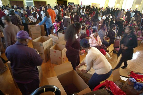 A huge outpouring of people joined together at Hibernian Hall in Roxbury to donate and facilitate the movement of...