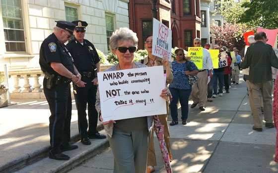 Affordable housing advocates and tenants picketed a June 6 B'nai B'rith Housing New England event honoring landlord Bill Kargman,...