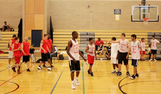 Al-Noor Academy and Toni's Own Cookies prepare for game time. (Photos courtesy of the Muslim Athletic Association) ...