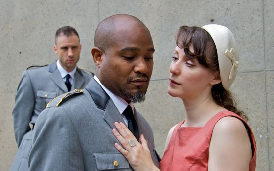 James Waterston as Iago, Seth Gilliam as Othello and Marianna Bassham as Desdemona star in the Commonwealth Shakespeare...