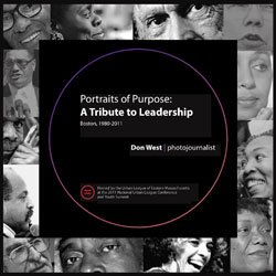 "Edmund Barry Gaither, director and curator of the Museum of the National Center of Afro-American Artists, is featured in ""Portraits of Purpose: A Tribute to Leadership (Boston, 1980-2011)"" at the Boston Convention Center."