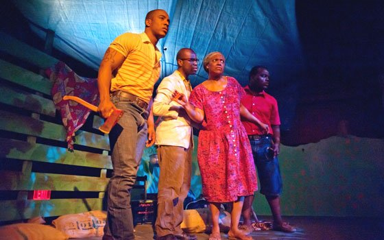 New production showcases Nobel laureate playwright's work Hampton Sterling Fluker (Gros Jean), Cedric Lilly (Mi-Jean), Sonya...