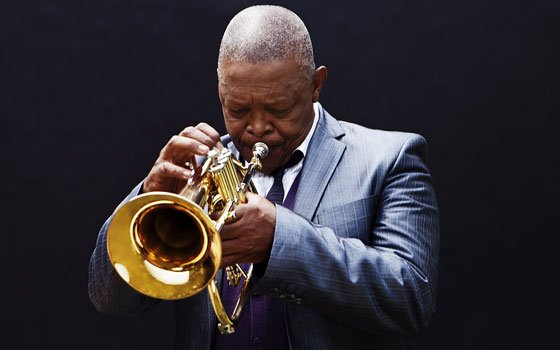 South African musician Hugh Masekela and his five-member ensemble delighted a crowd at the Berklee Performance Center on Sunday.