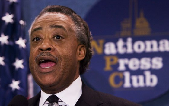 The Rev. Al Sharpton speaks during a news conference at the National Press Club in Washington on June...