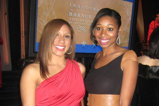 Kenicia Cross (left) and Angelique Michelle, co-owners of a Miami-based online wardrobe consulting business, show off their style...