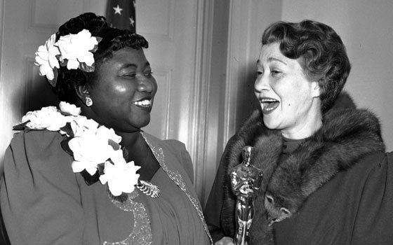 Hattie McDaniel, left, was given the Motion Picture Academy Award for the best performance of an actress in a...