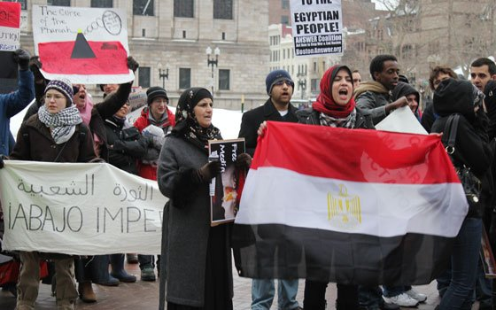 Bostonians rallied again this week in support of the massive Egyptian revolt against President Hosni Mubarak. The crowd began...