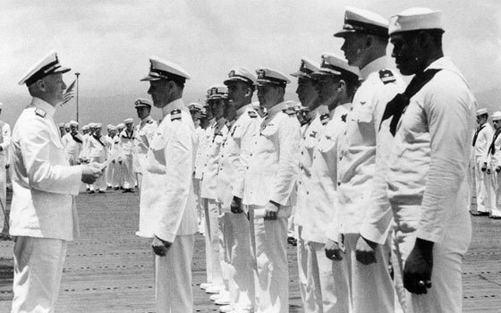 , USN Mess Attendant Second Class, just after being presented on May 27, 1942 with the Navy Cross...