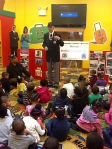 Liaison Pilot Maj. Welton I. Taylor, 92, made an appearance at the Bronzeville Children's Museum...
