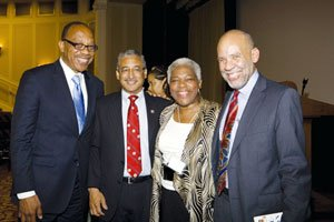 Eugene Robinson, Congressman Bobby Scott, Elaine Jones, and John Payton during the NAACP LDF's 70th Anniversary celebration in Washington, D.C. / Courtesy photo