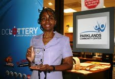 District resident Brenda Jones has been awarded the D.C. Lottery's first Gold Community Service Award....