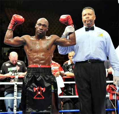 "DeMarcus ""Chop Chop"" Corley defeats Damian Fuller on Sat. July 10 at the Patriot..."