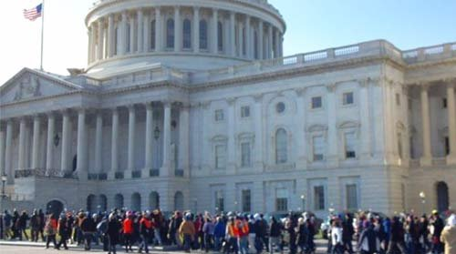 WASHINGTON, D.C.--Julia Lee hobbled on a cane in a crowd of marchers toward the Longworth...