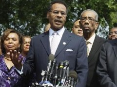 Congressional CBC Chair Emanuel Cleaver (center) with Caucus members./Courtesy Photo