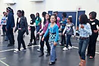 Young girls attending the Xi Zeta Omega Chapter of Alpha Kappa Alpha (AKA) Sorority Girls Rock conference held at Walker Jones Education Campus in Northwest on Nov. 12./Photo by Shevry Lassiter