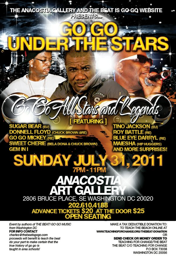 """WASHINGTON, DC -- Come celebrate the """"Go Go All Stars and Legends,"""" concert featuring Sugar..."""