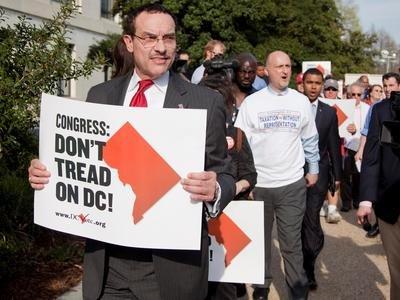 WASHINGTON, D.C. - Congresswoman Eleanor Holmes Norton, Mayor Vincent Gray and City Council Chairman Kwame...