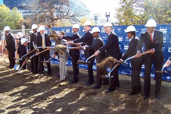 City officials and developers broke ground Wednesday for the of the long-awaited Washington Marriott Marquis...