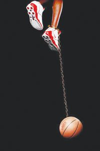 """The """"30 Americans"""" exhibit opens Oct. 1 at the Corcoran. Among the artists works on display will be Hank Willis Thomas' Basketball and Chain, 2003. / Courtesy of Rubell Family Collection, Miami."""