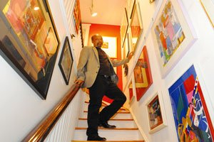 Michael Little owns NOA Gallery located in the Bloomingdale neighborhood in Northwest. / Photo by Victor Holt