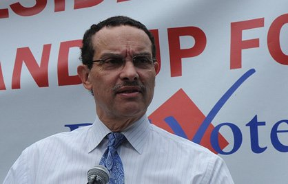 The D.C. Full Democracy Freedom Rally and March, organized to call attention to the District's...