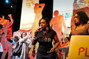 The XVIII International AIDS Conference (AIDS 2010), Global Village during the opening ceremonies in Vienna, Austria on Tue., July 13. AIDS activist Sheryl Lee Ralph attended the conference which ended on Fri., July 23. / Photo courtesy of IAS/Marcus Rose/ Workers' Photos