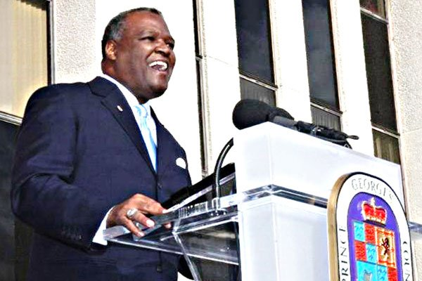 Rushern Baker inaugurated as Prince George's County Executive. Photo by Maurice G. Fitzgerald