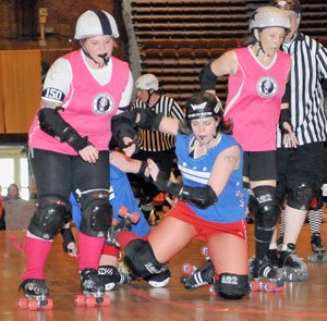 Roller Derby: Lehigh Valley Rollergirls (in pink) take on the Capital offenders, Sat, May...