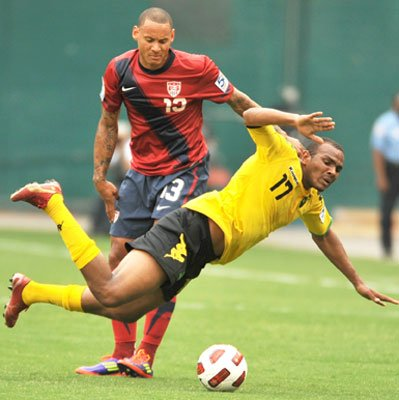 Clint Dempsey (#8) scored Team USA's second goal in the 80th minute during CONCACAF Goal...