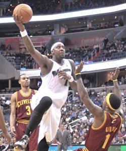 Andray Blatche during his return to action at the Verizon Center on Fri., April 1.
