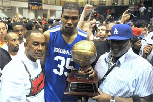 Kevin Durant, the NBA two-time all-star was instrumental in getting the Los Angeles Drew League...