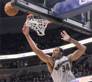JaVale McGee will be one of four participants in the 2011 Sprite Slam Dunk contest.Photo by John E. DeFreitas