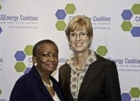 **FILE** Maudine R. Cooper (left), president and CEO of the Greater Washington Urban League, and Christine Todd Whitman, former EPA Administrator and Co-Chair of the Clean and Safe Energy Coalition