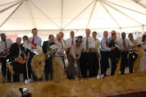 The groundbreaking for a revitalization project to redevelop the historic O Street Market...