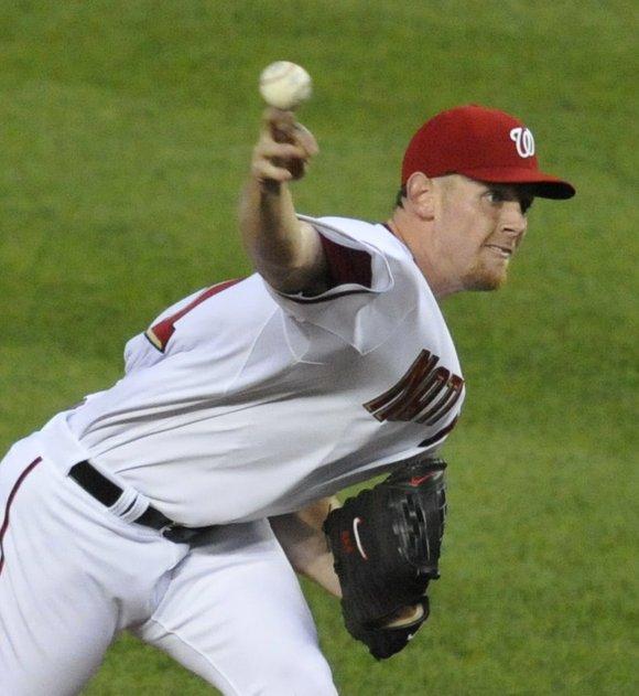 Washington Nationals pitcher Stephen Strasburg. Photo By John E. DeFreitas...