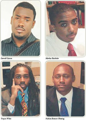 Clockwise from top left: Darrell Gaston, Marcus Batchelor, Nathan Bennett-Fleming, Trayon White