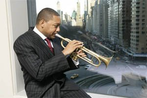Wynton Marsallis performs at the Kennedy Center on January 30. The 15-member Jazz...