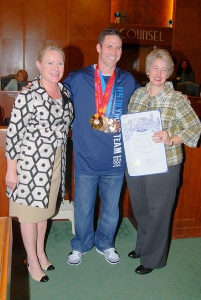 Houston Mayor Annise Parker presented an official proclamation to five-time Olympic medalist and Spring resident Chad Hedrick, who distinguished himself ...