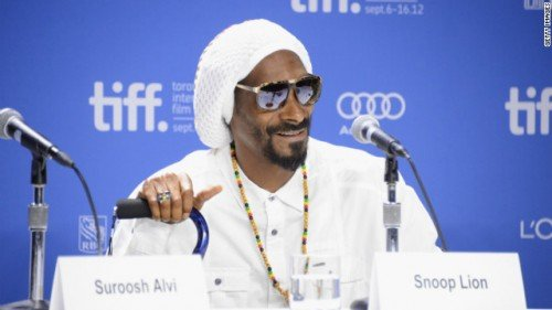 """During a press conference at the Toronto International Film Festival for his documentary """"Reincarnated,"""" Snoop Lion (as hip hop star ..."""