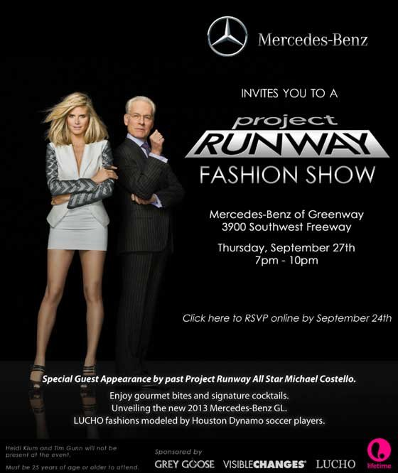 Mercedes Benz Invites You To A Project Runway Fashion Show Houston Style Magazine Urban