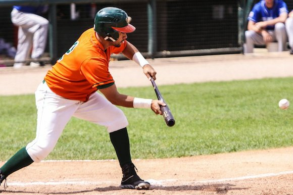 The Joliet Slammers (31-44) after losing the final game to Lake Erie Crushers (42-31) by a final of 15-5 on ...