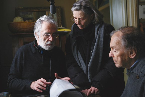 Retired music teachers Georges (Jean-Louis Trintignant) and Anne (Emmanuelle Riva) have been married for over 60 years. But the frail ...
