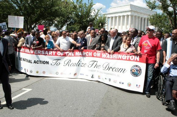 The 50th Anniversary for the March on Washington for Jobs and Freedom celebrated a more diverse coalition and needs, but ...