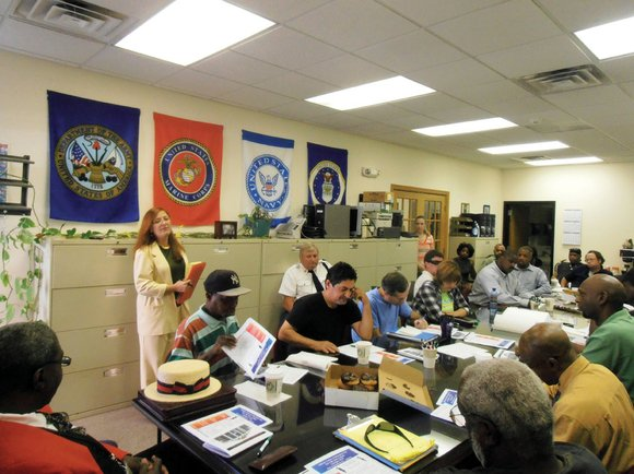 About 25 unemployed veterans from throughout Will County packed into a room at the Veterans Assistance Commission office in Joliet ...