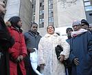 Family of Mohamed Bah at Centre St. vigil