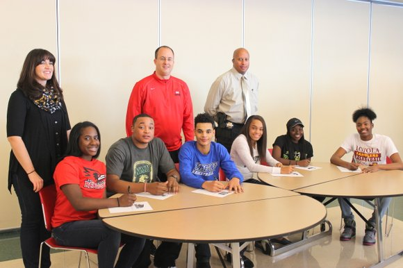 Six Bolingbrook High School student athletes Wednesday signed their NCAA National Letters of Intent to continue their athletic endeavors at ...