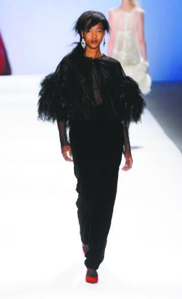 Tadashi Shoji's fall 2013 collection tells a tale of exiled nobility. His looks were inspired by the splendor of the ...