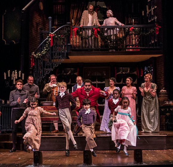 """A stripped-down, streamlined production by Goodman Theatre of Charles Dickens' classic """"A Christmas Carol"""" uses a stripped-down, no nonsense approach ..."""