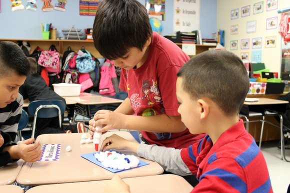 Many of the classrooms at Tibbott Elementary School in Bolingbrook were hard at work this week putting the finishing touches ...