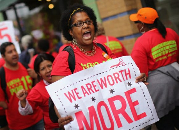 Fast food workers won't get the $15 living wage in time for Christmas, but their nationwide protests continue to draw ...